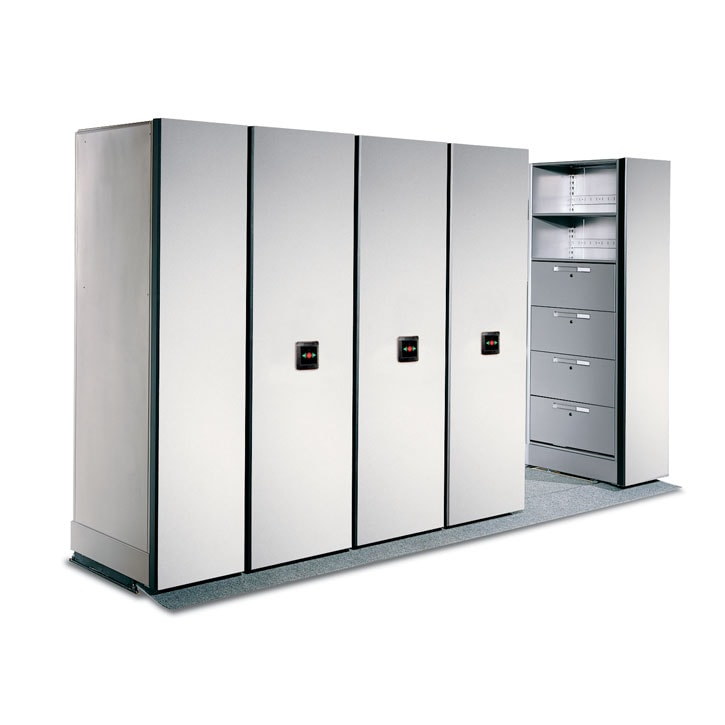 Electrical Powered Mobile Shelving Systems. Electrionic Powered Mobile  Shelving. Lateral Filing Cabinets