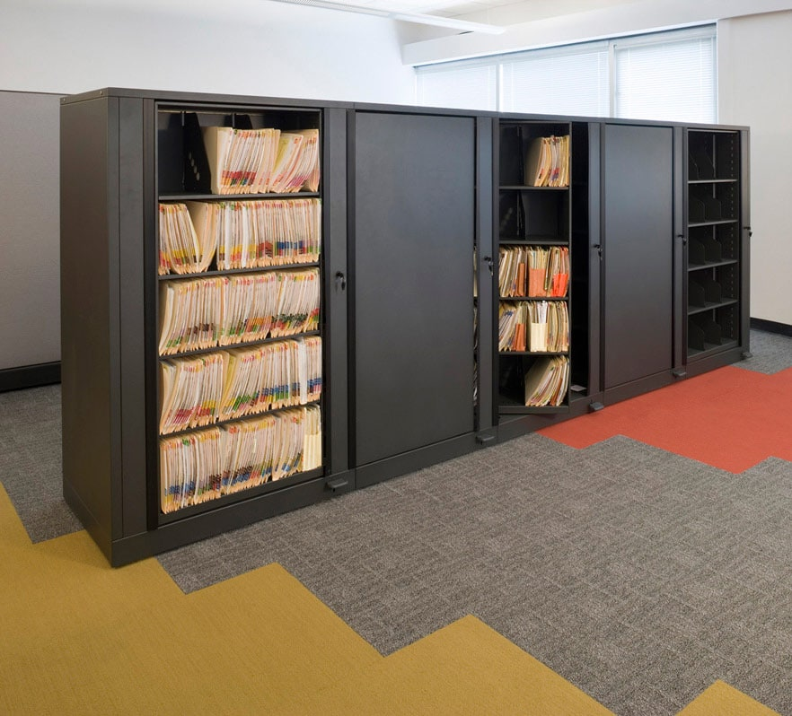 Rotary Filing Cabinets maximizes space