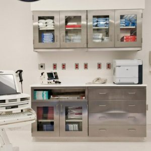 Stainless Steel Cabinets in Healthcare setting