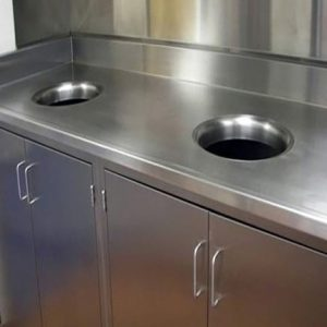 Stainless Steel Cabinets built in garbage