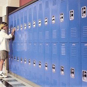Durable Steel Lockers in school setting