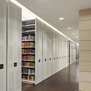 Law Library Electric Powered Mobile shelving