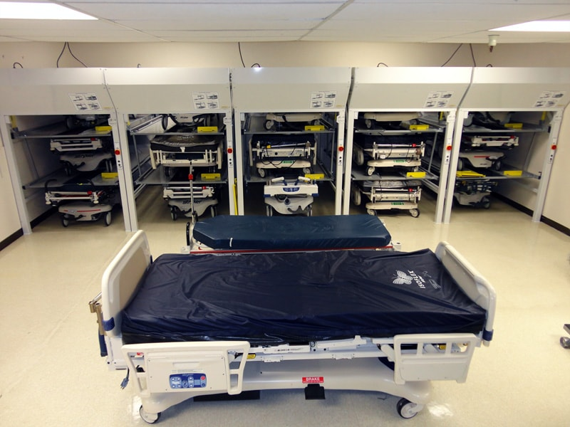 Hospital Bedlift Storage save space