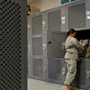 Secure Military Gear Storage