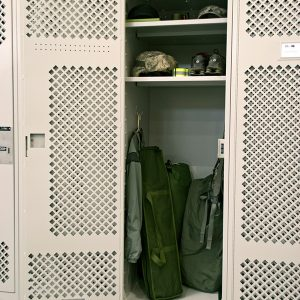 Secure Locker Storage for Military Facilities
