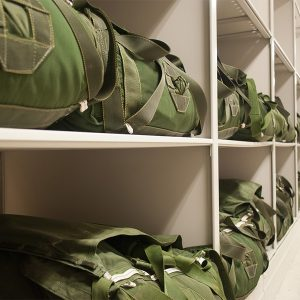 Shelving for Parachute Storage