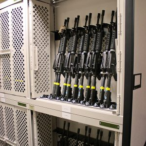 Universal Weapons Rack on High-Density Shelving