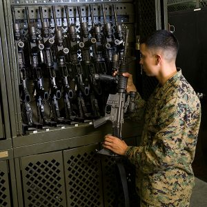 Military Weapons and Gear Storage