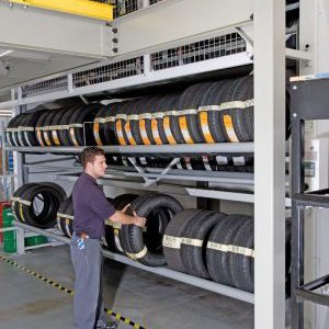 Industrial Vertical Tire Carousel