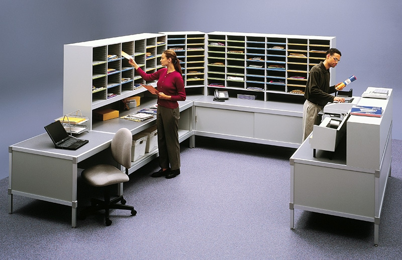 Mail Storage: Mailroom Furniture Aluminum Consoles