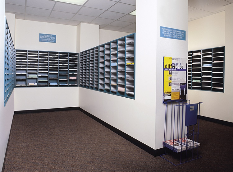 Mail Storage Mailroom Furniture Aluminum Consoles