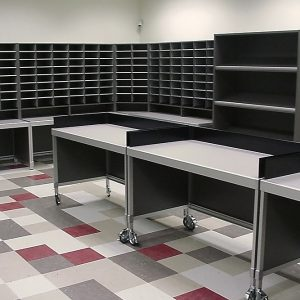Mailroom Consoles on Casters
