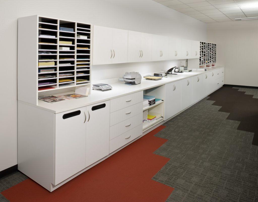 Mail Storage Mailroom Furniture Aluminum Consoles