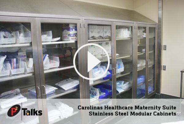 Carolina Healthcare Maternity Suite - Stainless Steel Modular Cabinets