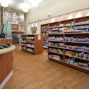 Laminate Cabinets and Shelving for Pharmacy Storage