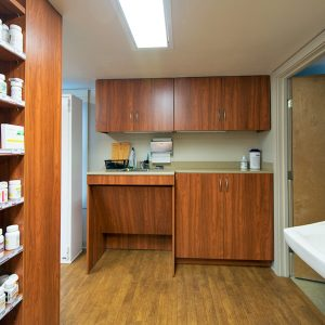 Pharmacy Prep and Storage Area