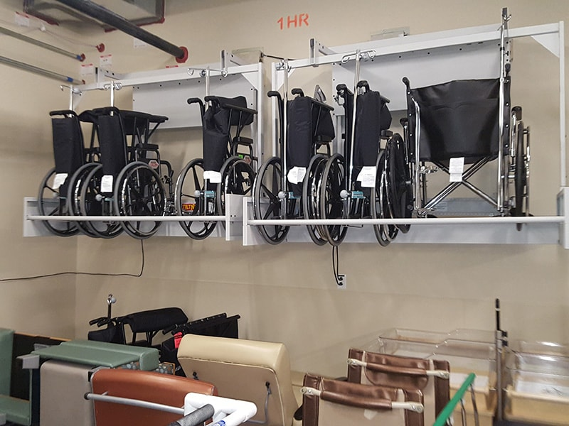 Hospital Bed Lift Storage