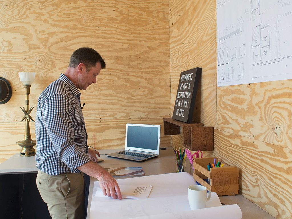 Jes Sander In The Tiny Office