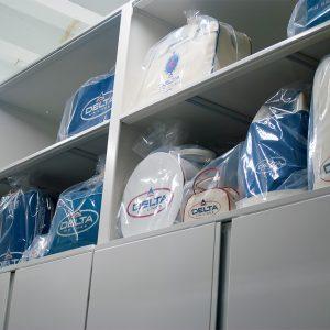 Flight Bag Storage on Shelves