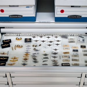 Pins Stored in Modular Drawers