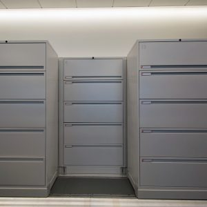Lateral File Cabinets on Bi-file Carriage & Lateral File Cabinet: High-Density Lateral Sliding Shelving | PP