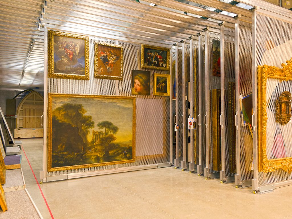 Cleveland Museum Of Art: Art Storage: Mobile Art Rack System: Painting Storage