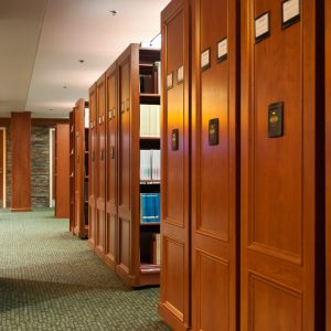 Electrical Powered Mobile Shelving in Medical Library