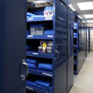 Compact-hospital-storage-shelving