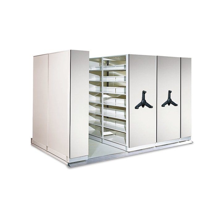 Mechancial-Assist Mobile Shelving