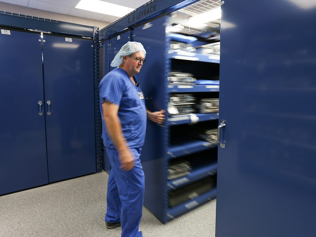 Levpro Mobile Suspended Shelving Patterson Pope