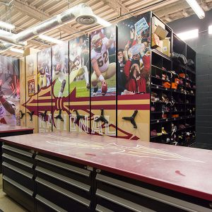 FSU Football Equipment Room