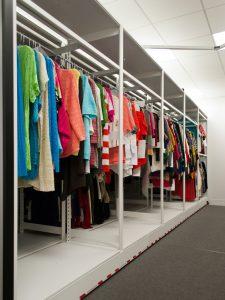 Clothing Racks on Mobil Retail Storage