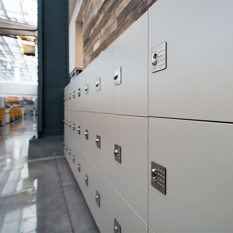 Provide students temporary storage options with day-use lockers