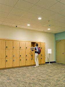 Temporary secure storage for students using day-use lockers