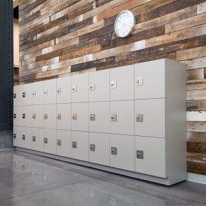 Day-Use Lockers for temporary employee storage