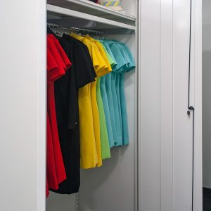 Cabinets for employee uniform storage