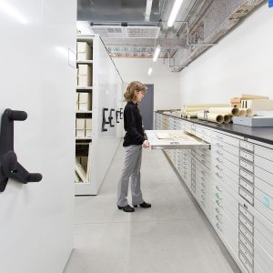 Flat files provide secure storage for museum archives