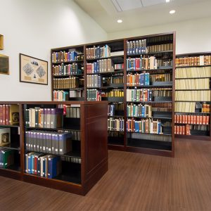 Journals and books housed on shelving