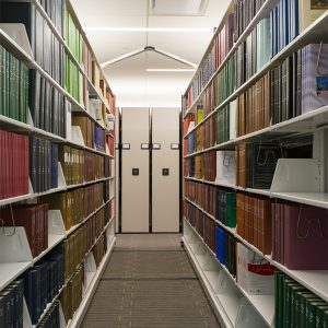 Compact shelving for law school library