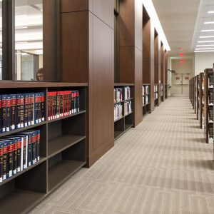 3-teir shelving for law school library