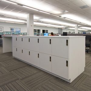Office workers require secure storage for their things