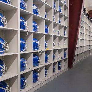 Football helmet storage