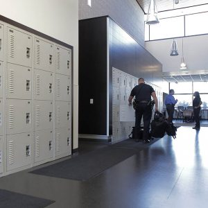 Lockers store critical gear for Police Departments