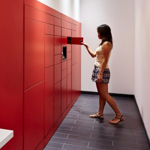 Smart lockers for package delivery