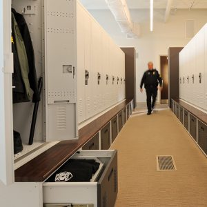 Police Departments use secure lockers