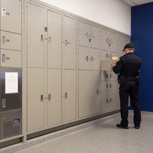 Secure storage of evidence in lockers