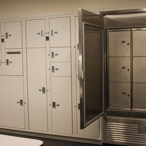 Refrigerated evidence locker system for temporary storage