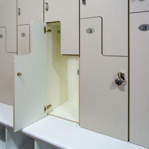 Gear gear stored in z-lockers