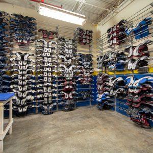 Shoulder Pad Storage Shelving