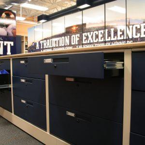Football Equipment Storage Drawers